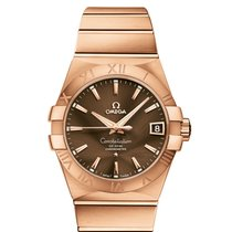 Omega Red gold Automatic Brown 38mm new Constellation Men