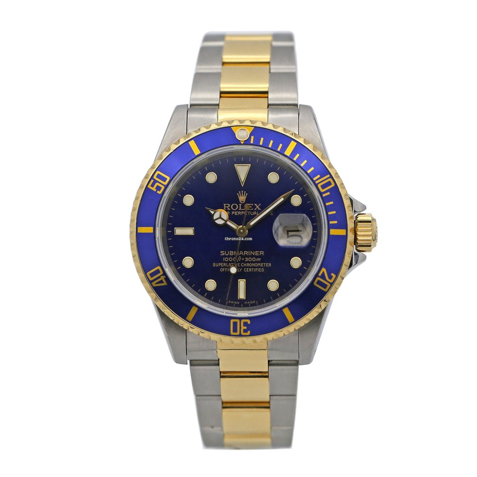 Rolex Submariner Date Two Tone 18k Yellow Gold \u0026 SS w/ Blue Dial