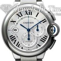 Cartier Ballon Bleu 44mm Steel 44mm Silver Roman numerals