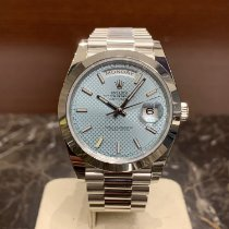 Rolex Platino Automático Azul Sin cifras 40mm nuevo Day-Date 40