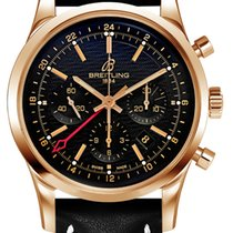 Breitling Transocean Chronograph GMT Oro rosado 43mm Negro