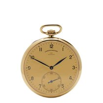 IWC Vintage Turler Pocket Watch 18k Yellow Gold Gents - COM786
