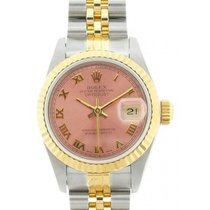 Rolex Datejust Ladies' 26mm Pink Champagne Dial Yellow Gold...