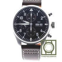 IWC Pilot Chronograph Steel 43mm Brown Arabic numerals