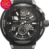 Clerc Hydroscaph TI Large Date Titanium 49mm Black