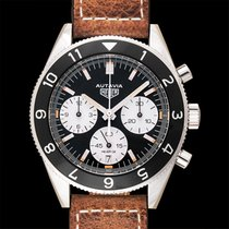 TAG Heuer Heuer Heritage Calibre Heuer 02 Black Steel/Leather...