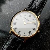 Tiffany & Co. 18k Solid Gold Mens 33mm Luxury Original Swiss...
