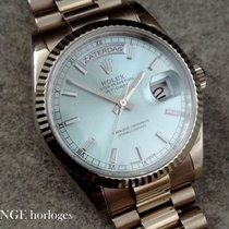 Rolex Day-Date Ice Blue Platinum dial - Full set - Serviced