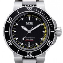 Oris Aquis Depth Gauge 01 733 7675 4154-Set MB ORIS AQUIS DEEP GAUGE Ceramica 46mm new