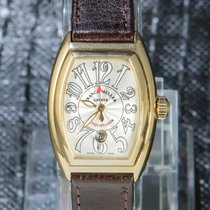 Franck Muller Yellow gold Automatic Silver Arabic numerals 39mm pre-owned Conquistador
