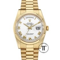 Rolex Day-Date Yellow gold 36mm White Roman numerals United States of America, New York, New York
