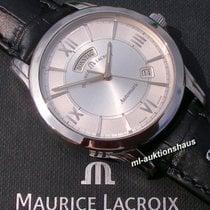 Maurice Lacroix Pontos Day Date Stahl 40mm Silber Römisch Deutschland, Meißen