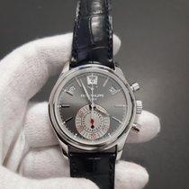 Patek Philippe Platin Automatik Grau Keine Ziffern 40.5mm gebraucht Annual Calendar Chronograph