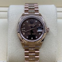 Rolex Lady-Datejust Rose gold 28mm Brown No numerals UAE, dubai