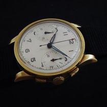 Anonimo Gelbgold Handaufzug Silber Arabisch 33mm gebraucht