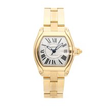 Cartier Roadster Yellow gold 37mm Silver Roman numerals United States of America, Pennsylvania, Bala Cynwyd