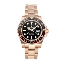 Rolex Rose gold Automatic Black No numerals 40mm pre-owned GMT-Master II