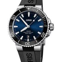 Oris Aquis Date Steel 43.5mm Blue No numerals