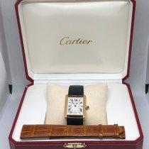 Cartier Tank Louis Cartier Yellow gold Silver Roman numerals
