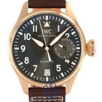 IWC Rose gold Automatic Grey Arabic numerals 46mm pre-owned Big Pilot