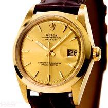 Rolex Vintage Datejust Man Size Ref-1600 14k Yellow Gold Bj-1968