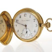 IWC 1895 solid 18k gold hunting case chronometer pocket watc