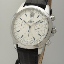 Union Glashütte Tradition Chronograph Stahl/Leder, Box+Papiere...