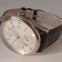 Rolex Cellini Dual Time White gold 39mm Silver