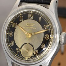 Tissot Antimagnetique military wristwatch with screw back