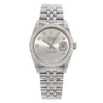 Rolex Datejust 16234 1 Ct Diamond Men's  Watch
