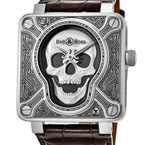 Bell & Ross Men's Watch BR0192-SKULL-BURN
