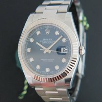 Rolex Datejust 41 Blue Diamond Dial 126334 NEW