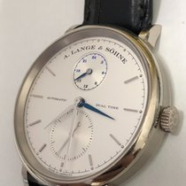 A. Lange & Söhne Saxonia Dual Time White Gold, Ref: 385.026