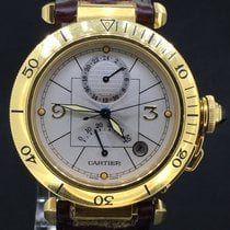 Cartier Pasha GMT 35MM Yellow Gold, Automatic Box&Papers/1999