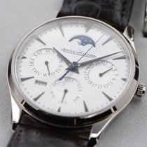 Jaeger-LeCoultre Master Ultra Thin Perpetual White gold 39mm Silver No numerals United States of America, Texas, Houston