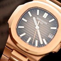 Patek Philippe Nautilus Ref-5711-1R-001 18k Rose Gold Box...