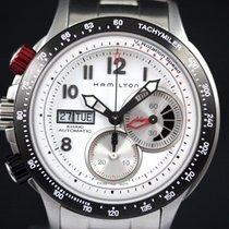 Hamilton Chronograph 45mm Automatic 2009 pre-owned Khaki (Submodel) White