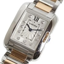 Cartier Tank Anglaise Gold/Steel 30mm Silver