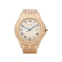 Cartier Cougar Yellow gold 33mm White Roman numerals United Kingdom, Bishop's Stortford