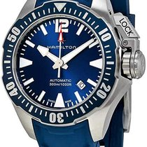 Hamilton Khaki Navy Frogman Acier 42mm Bleu