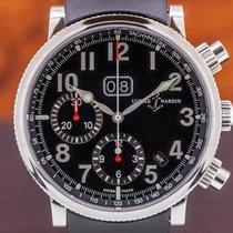 Ulysse Nardin Marine Chronograph Сталь 40mm Чёрный Aрабские