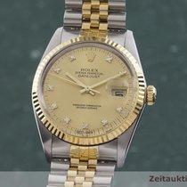 Rolex Datejust Zlato/Zeljezo 36mm Zlatan