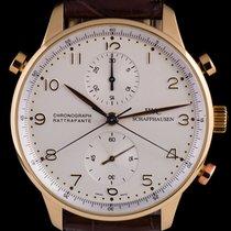 IWC Portuguese Chronograph Aur roz 41mm Argint Arabic