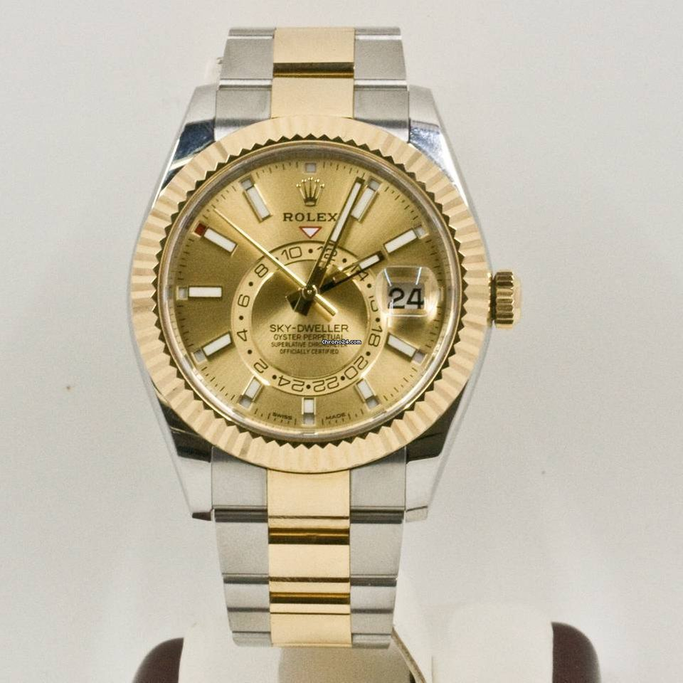 Rolex Sky,Dweller 326933 Champagne Face Rolex Box \u0026 Papers