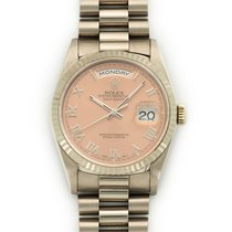 Rolex White Gold Day-Date Salmon Dial Watch Ref. 18239