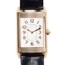 Jaeger-LeCoultre Reverso 18k Rose Gold Silver Manual Wind...