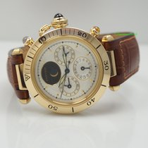 Cartier Pasha GMT/ 3 Time Zones Moon Automatic -Gold 18k - B &...