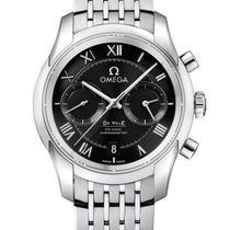 Omega De Ville Co-Axial Acero 42mm Negro