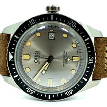 Oris Steel Automatic Grey No numerals new Divers Sixty Five