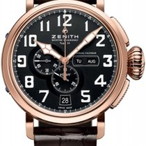 Zenith Pilot Type 20 Annual Calendar 48mm Чёрный Aрабские